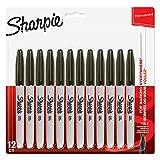 Sharpie Permanent-Marker, feine Spitze 12er-Pack Schwarz