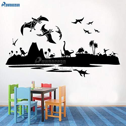 zqyjhkou Jurassic Park World Dinosaurier Landschaft T-Rex Kinderzimmer Dekor Vinyl Wandaufkleber B616 78x42cm