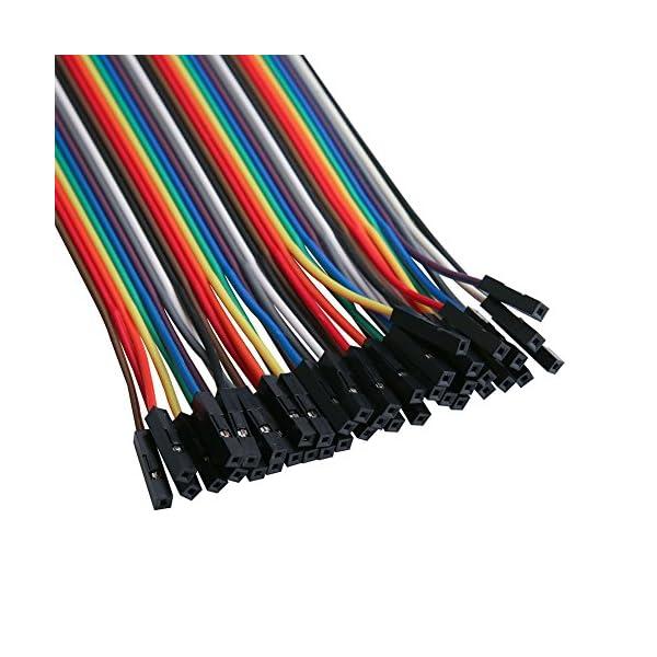 51xNzsKVu0L. SS600  - Elegoo 120 Piezas de Cable DuPont, 40 Pines Macho-Hembra, 40 Pines Macho-Macho, 40 Pines Hembra-Hembra, Cables Puente para Placas Prototipo (Protoboard) para Arduino, Kit de Cables para Arduino
