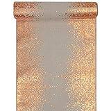 Tischläufer Metallisiert Rand Rosa-Kupfer 28cmx3m Tischband Tischdekoration Hochzeit
