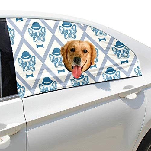 Plsdx Cartoon Hut Hund Haustier Hund Sicherheit Autoteil Fahrzeug Auto Fenster Zaun Vorhang Barrieren Protector Für Baby Kind Sonnenschutz Abdeckung Universal Fit SUV