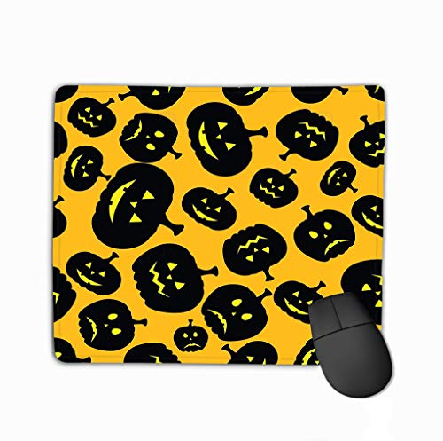 Pumpkin File Layered Easy Manipulation Custom Coloring Fashion Rectangle Rubber Mousepad 11.81 X 9.84 Inch ()