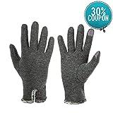 Opard Touchscreen Handschuhe Damen Winter Dicke Warme Handschuhe Kaschmir Drinnen Draußen Radfahrenhandschuhe
