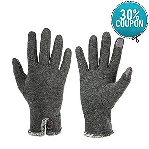 Opard Touchscreen Handschuhe Damen Winter Dicke Warme Handschuhe Fleece Innenfutter Drinnen Draußen Radfahrenhandschuhe, Mountainbikehandschuhe