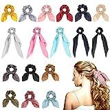 Bolonbi 17 unidades de coleteros para el cabello, bandas para el pelo con moño y lazo para el pelo, coleta con lazo, coleta y coleta