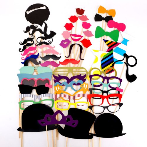 58pcs-colorful-props-on-a-stick-mustache-photo-booth-party-fun-wedding-christmas-birthday-favor
