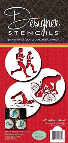 Triathlon Cookie Schablone Set von Designer Schablonen -