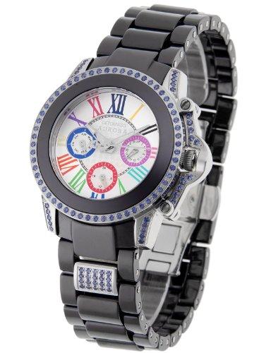 Detomaso DT3004-C – Reloj analógico de cuarzo para mujer con correa de cerámica, color negro