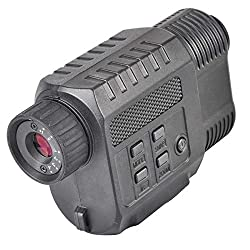Solomark Night Vision Monocular, Infrared IR Camera & Camcorder in Complete Darkness - 500ft/150M Viewing Range for Hunting &scouting game, Security &surveillance and Observing Wildlife