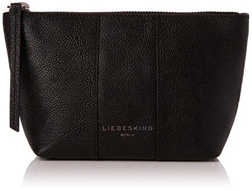 Liebeskind Berlin Damen Mainew7 Zipper Taschenorganizer, Schwarz (Oil Black), 12x7x23 cm