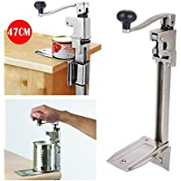 Manual Can Opener, Large Heavy Duty Catering Commercial Bench Can Opener Tin Opener Stainless Steel 470 X 210mm for Cans Up to 340 mm High