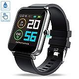 Zagzog Smartwatch 1,54in Full Touch Screen Smart watch Impermeabile IP68 Fitness Tracker GPS Orologio intelligente sportivo Cardiofrequenzimetro Pedometro Uomo Donna Compatibile con IOS Android -Nero