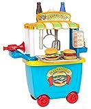Playgo 3506 - Burger Verkaufsstand Lebensmittel Spielbox für Spielküche 36 tlg