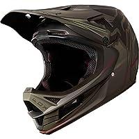 Fox Rampage Pro Carbon Kustom - Casco de Bicicleta Hombre - Negro/Oliva Contorno de