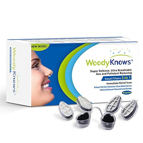 WoodyKnows 3 in 1 Anti Allergie Nasenfilter (Längliche Nasenlöcher, III-S)