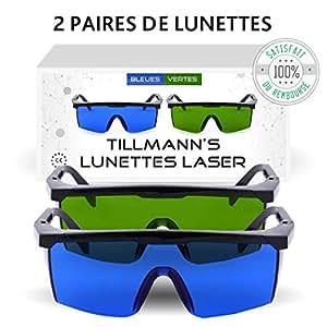 f7ddd72884ba20 Lunettes Laser Tillmann s- Deux paires de Lunettes de Protection ...