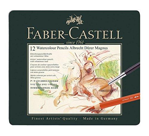 Faber-Castell 116912 - Estuche con 12 lápices Albrecht Dürer Magnus, multicolor