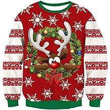 RAISEVERN Christmas Sudaderas sin Capucha Jumpers cef240e97565
