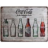 Nostalgic-Art 23207 Coca-Cola-Bottle Timeline Blechschild, 30 x 40 cm