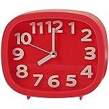 """3""""silencioso de cuarzo analógico despertador reloj cooja, rojo"""