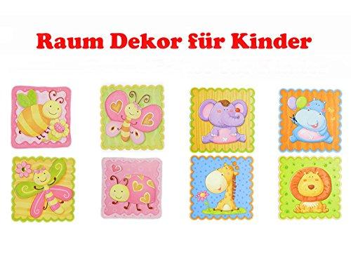 (8 X Wandsticker ! Raum Dekor für Kinderzimmer :-/Verwöhnen Sie Ihr Kind mit einem schönen Zimmer)