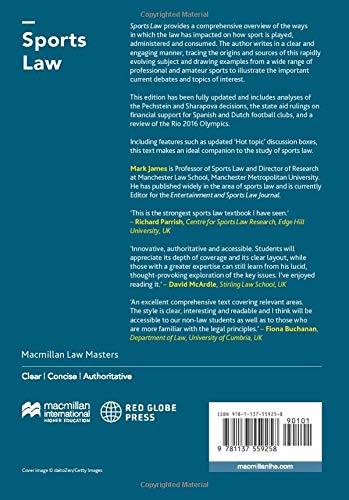 Sports Law (Macmillan Law Masters)