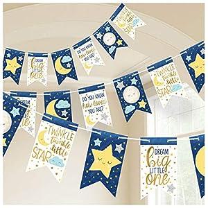 Amscan International- Cinta decorativa, Color banner pnnnt twinkle little star (122152)