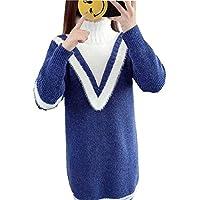 DEED Frauen - Herbst Und Winter Damenbekleidung, Mode Pullover Pullover, Frauen Langen Abschnitt, Halbhoher Kragen, Dickes Hemd, Lange Ärmel, Warme Pullover