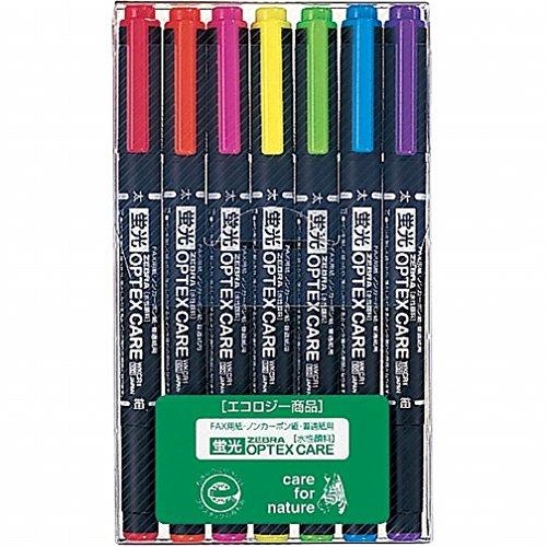ゼブラ 蛍光ペン オプテックスケア 7色 WKCR1-7C