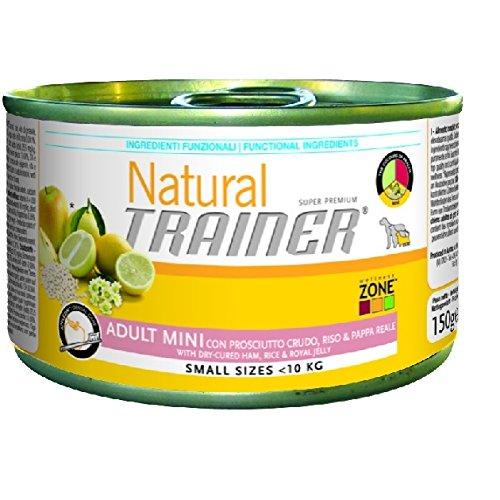 Trainer Natural Dog Adult Mini Schinken, Reis und Gelée Royale 150gr -