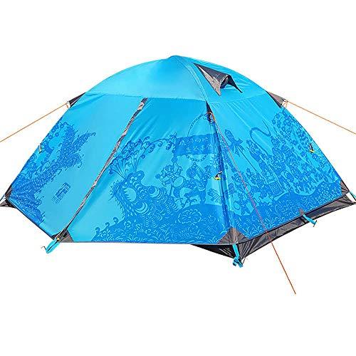 Aluminiumstange Zelt Anti-Regen Regen Camping Zelt mit doppeltem Verwendungszweck Familie Picknick Park Zelt sammeln ()