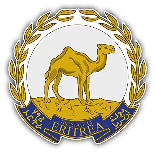 Eritrea Coat Of Arms Auto-Dekor-Vinylaufkleber 12 X 12 cm (Eritrea Coat)