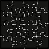 Marianne Design Craftables Puzzle-Stanzschablone und Prägeschablone für die Kartengestaltung und Scrapbooking, Steel, Grey, 10 x 6.7 x 0.3 cm