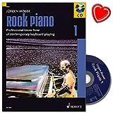 Rock Piano Band 1 von Jürgen Moser - Grundlagen des professionellen Keyboard-Spiels in Pop und Rock - mit CD und bunter