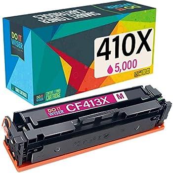 Pack de 4 Do it Wiser Cartouches de Toner CF380X CF381A CF382A CF383A Compatibles pour HP 312A Color Laserjet Pro MFP M476dn M476dw M476nw