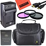 Starters Accessory Kit For Nikon Coolpix P900 Digital Camera - Includes 1 ENEL23 Battery + Rapid Charger + 67mm 3PC Filter Kit + Deluxe Carrying Case + More!!