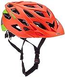 ALPINA D-Alto LE Fahrradhelm, Neon Red-Green, 52-57