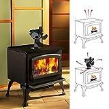 Haven Shop ventilador de 4 aspas para estufa, de aluminio silencioso, respetuoso con el medio ambiente, para ahorrar combustible, ventilador de estufa de leña