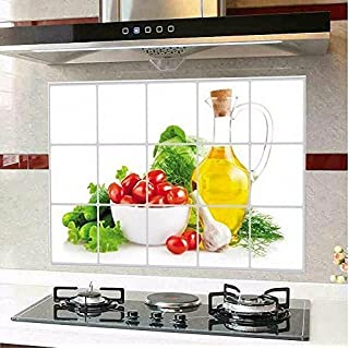 AOHANG Waterproof Anti-oil Stain lecythus Kitchen decoration Wall Sticker Tile Decal by AOHANG