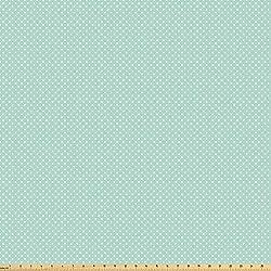 ABAKUHAUS Verde Tela por Metro, Poco Retro De Los Lunares, Microfibra Decorativa para Artes y Manualidades, 1M (160x100cm), Verde Menta Blanca
