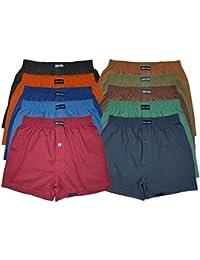 10 farbige Boxershorts 100% Baumwolle lockere & weiche Unterhose Short Boxer Shorts 110er Spar Pack Herren Jungen Mann Man M L XL 2XL 3XL 4XL