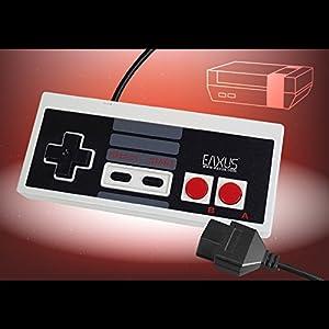 Eaxus®️ 2x Retro NES Controller im Classic Look für das Nintendo Entertainment System