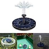 Sel-More Solar-Springbrunnen mit solarbetriebener Vogeltränenpumpe 1,4 W Solarpanel-Set Wasserpumpe, für Teich, Pool, Garten, Aquarium, Aquarium