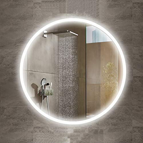 Espejo Redondo baño LED luz Blanca/cálida, Interruptor