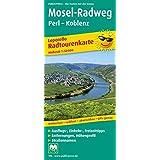 Mosel-Radweg Perl - Koblenz: Leporello Radtourenkarte mit Ausflugszielen, Einkehr- & Freizeittipps, wetterfest, reißfest, abwischbar, GPS-genau. 1:50000