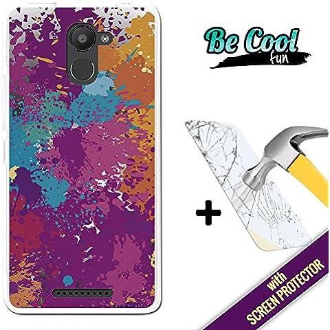 Becool® Fun - Funda Gel Flexible para Bq Aquaris U Plus, [ +1 Protector Cristal Vidrio Templado ] Carcasa TPU fabricada con la mejor Silicona, protege y se adapta a la perfección a tu Smartphone y con nuestro exclusivo diseño. Salpicaduras de