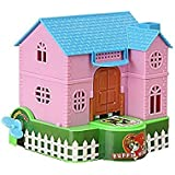 Glive's Kids Piggy Bank Puppy Stealing Coins Piggy Bank Dog House Coin Box With Key Wind For Saving Money