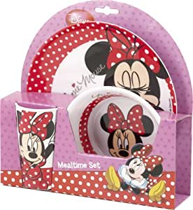 Minnie Mouse Melamine 3pc Dinner Set