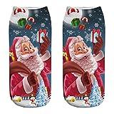 Selou Paar Socken Weihnachtssocken für Männer und Frauen flach mit süßem Druck beiläufige Arbeit Geschäft Baumwollsocken mittlere Sport Socken Farbe Socken benutzerdefinierte Baumwolle Schweiß