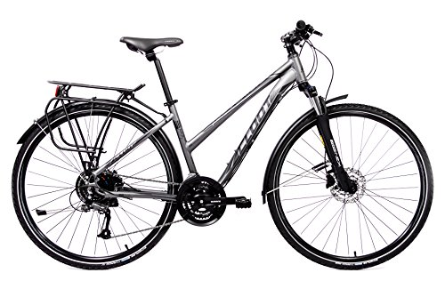 Hybrid Bike - Bike Radfahren Trekking - Cloot Adventure Disc W, Shimano 24-Geschwindigkeiten, Shimano Hydraulische Scheibenbremsen M315 Aluminium 6061, Suntour-Gabel, 700-Räder, Schwalbe Tyrago, 1,60